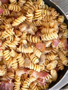 Bacon and Mushroom Pasta